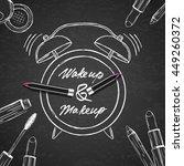 vector illustration of makeup... | Shutterstock .eps vector #449260372