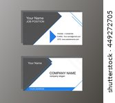 business card  white and blue | Shutterstock .eps vector #449272705
