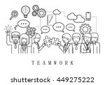 teamwork  people team on white... | Shutterstock .eps vector #449275222