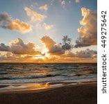Sunset. Beautiful Sunset At...