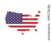 usa concept represented by map... | Shutterstock .eps vector #449278186