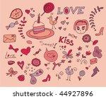 cute valentine doodle | Shutterstock .eps vector #44927896