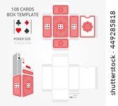 poker card size tuck box... | Shutterstock .eps vector #449285818