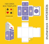 poker card size tuck box... | Shutterstock .eps vector #449285836