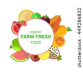 farm fresh fruits emblem  flat... | Shutterstock .eps vector #449286832