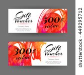 beautiful vector gift voucher... | Shutterstock .eps vector #449295712