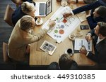 business people meeting... | Shutterstock . vector #449310385