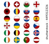 flags of europe. vector... | Shutterstock .eps vector #449312326