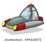 futuristic flying car  isolated ... | Shutterstock .eps vector #449320072