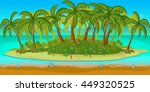 tropical beach landscape for ui ...