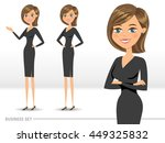 set of three happy business... | Shutterstock .eps vector #449325832