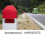 red and white painted... | Shutterstock . vector #449332372