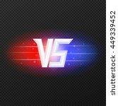versus isolated logo.... | Shutterstock .eps vector #449339452