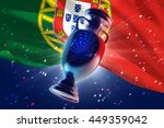 cup uefa 2016 on the football... | Shutterstock . vector #449359042