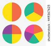 info template pie charts with 2 ... | Shutterstock .eps vector #449367625