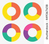 info template pie charts with 2 ... | Shutterstock .eps vector #449367658