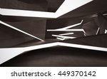 empty dark abstract brown... | Shutterstock . vector #449370142