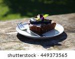 slice of chocolate cake ...   Shutterstock . vector #449373565