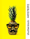 fun fashion pineapple with... | Shutterstock . vector #449378392