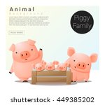 Cute Animal Family Background...