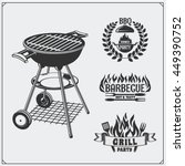 bbq and grill labels set.... | Shutterstock .eps vector #449390752