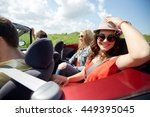 leisure  road trip  travel and... | Shutterstock . vector #449395045