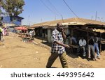 kibera slum kenya   september... | Shutterstock . vector #449395642