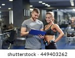 fitness  sport  exercising and... | Shutterstock . vector #449403262