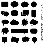 speech bubble icons  | Shutterstock .eps vector #449407126