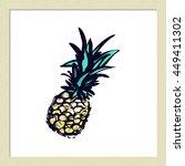 hand drawn summertime fashion... | Shutterstock .eps vector #449411302