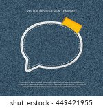 vector stitched denim applique... | Shutterstock .eps vector #449421955