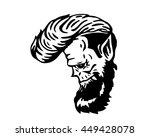 vintage black and white hair... | Shutterstock .eps vector #449428078