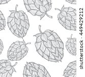 seamless pattern with  hops.... | Shutterstock .eps vector #449429212