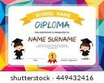 kids diploma certificate... | Shutterstock .eps vector #449432416