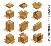 vector isometric card box set | Shutterstock .eps vector #449452936