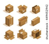 vector isometric card box set | Shutterstock .eps vector #449452942