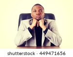 thoughtful businessman | Shutterstock . vector #449471656