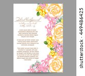 invitation with floral... | Shutterstock .eps vector #449486425