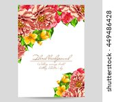 invitation with floral... | Shutterstock .eps vector #449486428