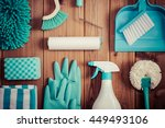 cleaning tools placed on top of ... | Shutterstock . vector #449493106