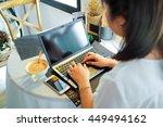 top view ofman working on...   Shutterstock . vector #449494162