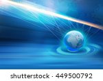 abstract  global connection... | Shutterstock . vector #449500792