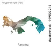panama map in geometric... | Shutterstock .eps vector #449503246