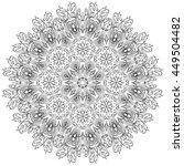 vector mandala. set of... | Shutterstock .eps vector #449504482