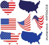 american flag and design usa ... | Shutterstock .eps vector #449506318