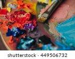 Closeup Of Paint Mixing Proces...