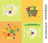 illustrations with fresh fruits ... | Shutterstock . vector #449508565