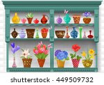 cupboard with modern glass... | Shutterstock .eps vector #449509732