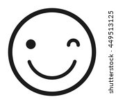 happy face emoticon isolated... | Shutterstock .eps vector #449513125