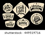 set of vintage labels  logo... | Shutterstock .eps vector #449519716